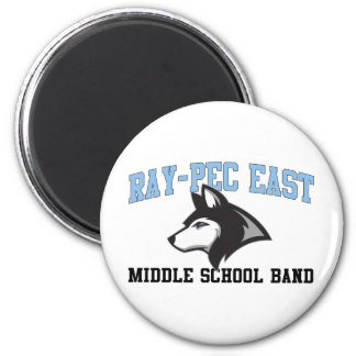 Ray-Pec East Middle School Band 6 Cm Round Magnet