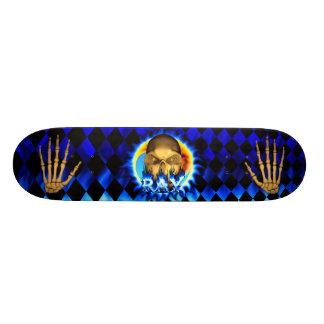 Ray skull blue fire Skatersollie skateboard.
