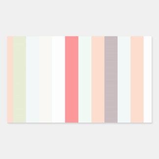 Rayas rosadas celestes y color pastel etiquetas