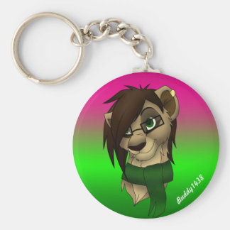 Raylene the Lioness Basic Round Button Key Ring