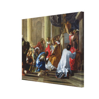 Raymond IV de Saint-Gilles  Taking the Cross Canvas Print