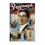Raymond The Great ~ Miracles Vintage Magic Act Post Card