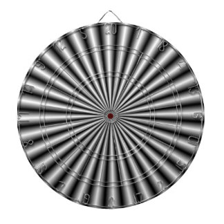 Rays in Black and White Dartboard