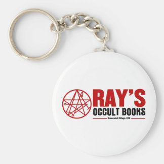 Ray's Occult Book Shop Basic Round Button Key Ring