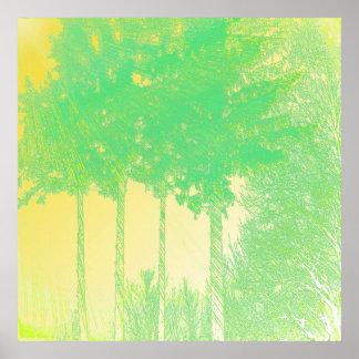 Rays of Hope 3 Trees Print