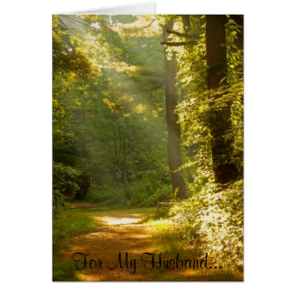 Rays of Light, For My Husband... Greeting Card