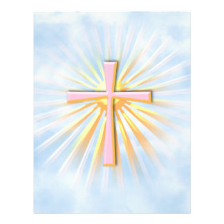 Rays of Light from the Religious Cross (W/Clouds) 21.5 Cm X 28 Cm Flyer