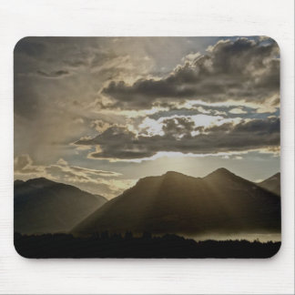 RAYS OF LIGHT OVER THE GRAND TETONS MOUSE PAD