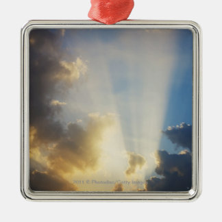 Rays Of Light Shining Through The Clouds Christmas Ornament