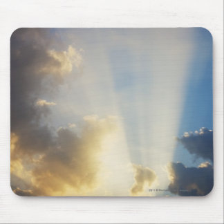 Rays Of Light Shining Through The Clouds Mouse Mat