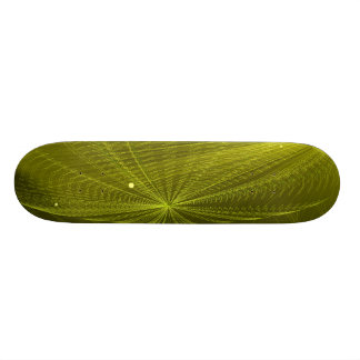 Rays of Psychedelic Electric Green 21.6 Cm Old School Skateboard Deck