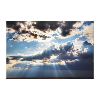 Rays of sunshine from above canvas print