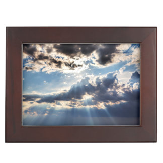 Rays of sunshine from above keepsake box