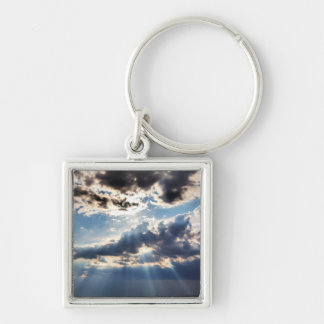 Rays of sunshine from above key ring