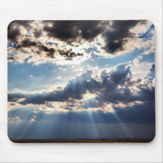 Rays of sunshine from above mouse mat