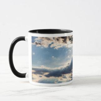 Rays of sunshine from above mug