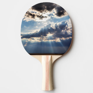 Rays of sunshine from above ping pong paddle