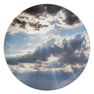Rays of sunshine from above plate
