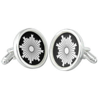 Rays of the rising sun cuff links