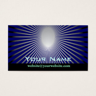 Rays of the sun abstract business card