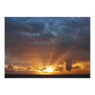 Rays of the Sun at Dawn Personalized Invitation