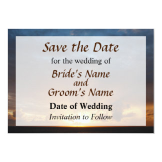 Rays Of The Sun At Dawn Save the Date Custom Announcements