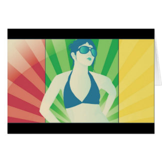 rays of vector greeting card