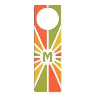 Rays Pattern custom monogram door hanger