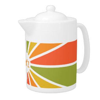 Rays Pattern custom teapot