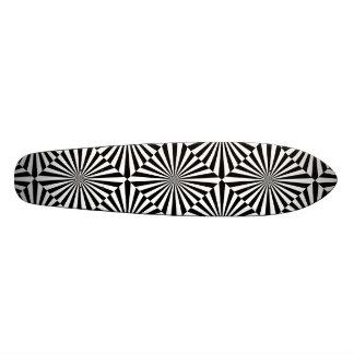 RAYS transparent (a black & white design) ~ 19.7 Cm Skateboard Deck