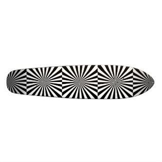 RAYS transparent (a black & white design) ~ 21.6 Cm Skateboard Deck