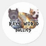 rays world bullies classic round sticker