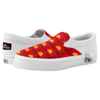 Rayshine Apparel™ Brand Red Slip On Shoes Printed Shoes