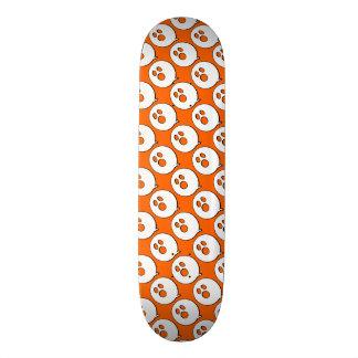 Rayshine GHOST™ Pop Art Hot Orange & White 21.3 Cm Mini Skateboard Deck