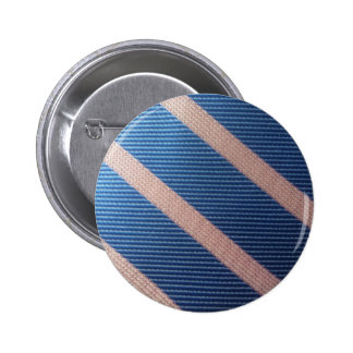 Rayures Bleu / Rose Personnalisable 6 Cm Round Badge