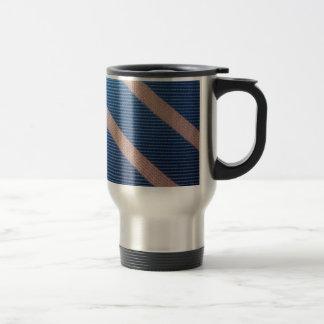 Rayures Bleu / Rose Personnalisable Travel Mug