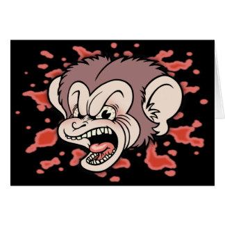 Raz Putin, The Mad Monkey Greeting Card
