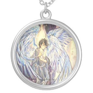 Raziel Round Pendant Necklace