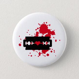 Razor Blade love blood 6 Cm Round Badge