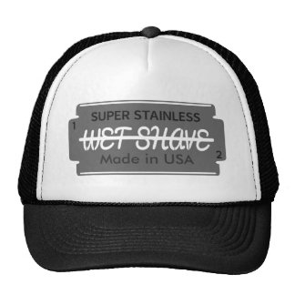 Razor Blade Wet Shave Customizable Cap