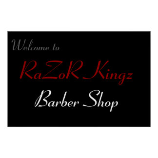 RaZoR Kingz Barber Shop Promotional Poster