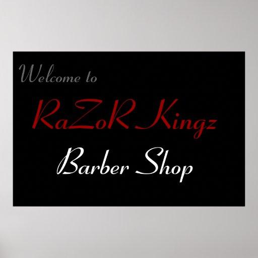 RaZoR Kingz Barber Shop Promotional Posters