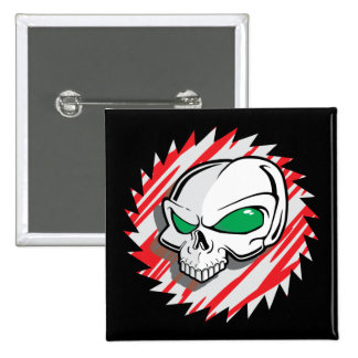 Razor Saw Skull 15 Cm Square Badge