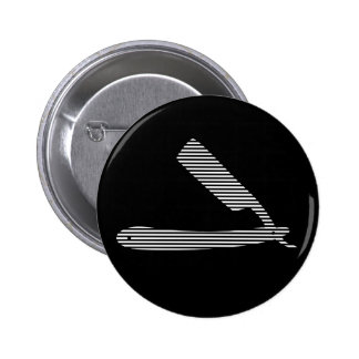 razor stripes 6 cm round badge