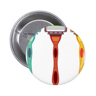 Razor Vector 6 Cm Round Badge