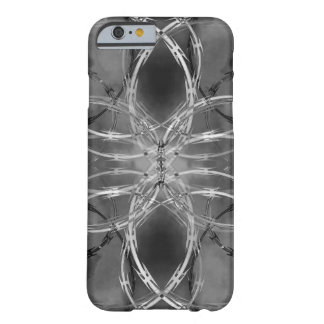 Razor wire against dark clouds barely there iPhone 6 case