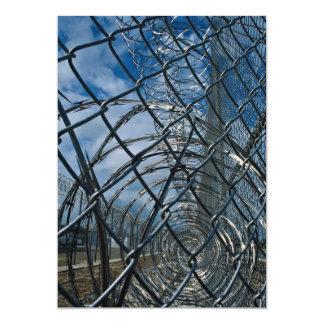Razor wire, prison 13 cm x 18 cm invitation card
