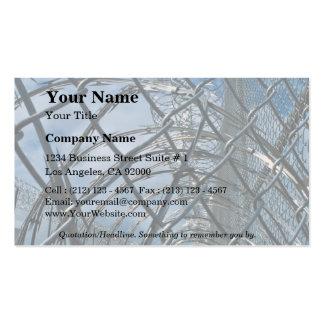 Razor wire, prison business card