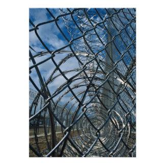 Razor wire prison personalized announcement