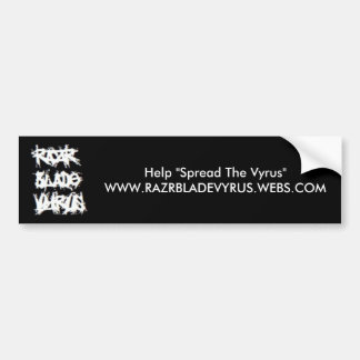 Razr Blade Vyrus Bumper Sticker Car Bumper Sticker